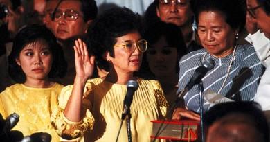 Cory Aquino Oath-Taking 1986