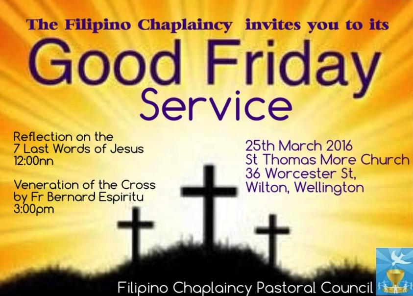 2016 Good Friday Service (Wellington) – Pinoy Stop