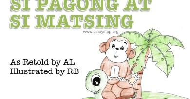Si Pagong at Si Matsing Title