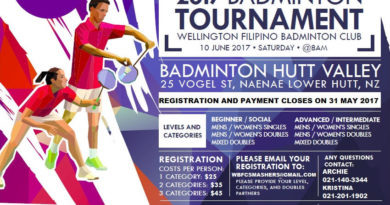 Ambassadors Cup 2017 – Badminton Tournament (Wellington)