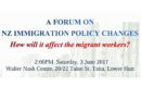 A Forum on NZ Immigration Policy Changes (Wellington)