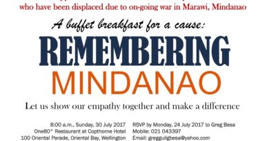 Remembering Mindanao – A Buffet Breakfast for a Cause (Wellington)